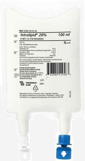 Image of Intralipid 20% IV Fat Emulsion 100ml